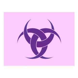 Crecientes de la púrpura 3 postal