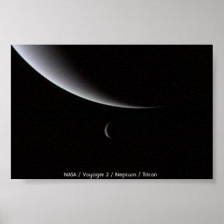 Crecientes de Neptuno y de Tritón Impresiones