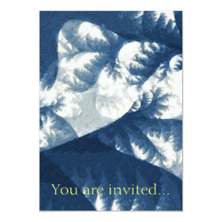 """Crecimiento 1 azul invitación 5"""" x 7"""""""