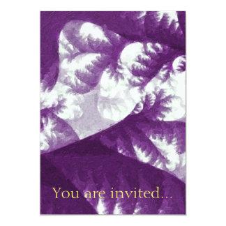 """Crecimiento 1 púrpura invitación 5"""" x 7"""""""