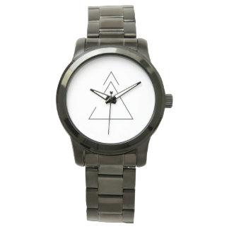 Crecimiento + ábrase para cambiar la banda negra relojes de pulsera