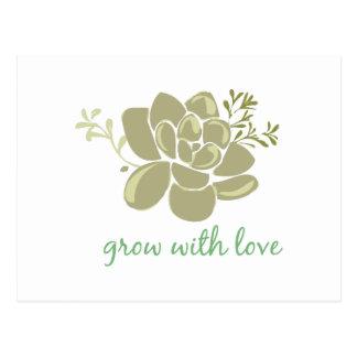 Crecimiento con amor postales