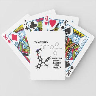 Crecimiento de inhibición de la célula cancerosa d cartas de juego
