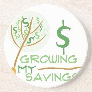 Crecimiento de mis ahorros posavasos manualidades