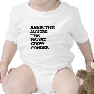 Crecimiento del ajenjo trajes de bebé