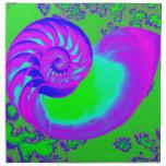 Crecimiento del color, cáscara del nautilus servilleta imprimida