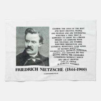 Crecimiento favorable Nietzsche de las condiciones Toalla De Mano