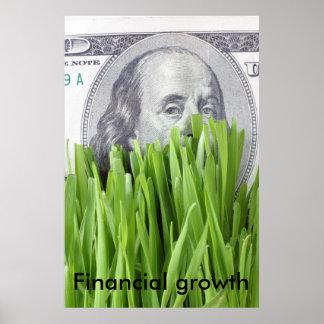 Crecimiento financiero póster