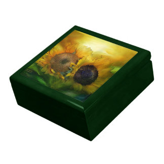 Crecimiento junto de la caja de regalo del arte de joyero cuadrado grande