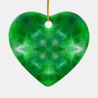 Crecimiento y salud espirituales adorno de cerámica en forma de corazón