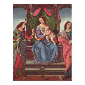 Credi, Lorenzo di Maria mit dem Kind und zwei Heil Postcard