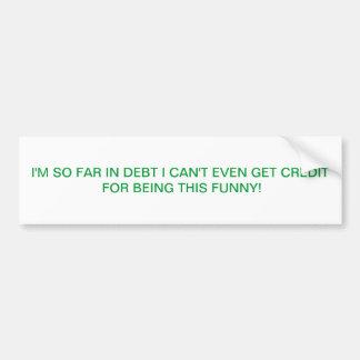 credit car bumper sticker