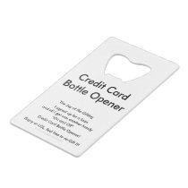 Credit Card Bottle Opener Joy of Re-Gifting