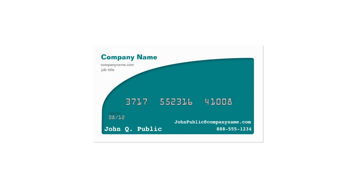 Credit Card Business Card