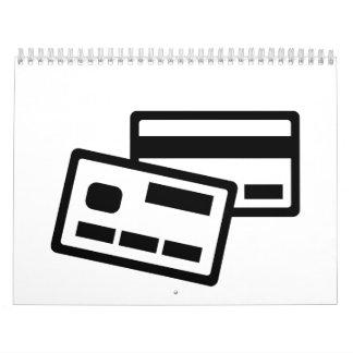 Credit card calendar