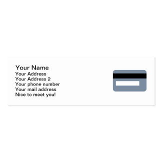 Credit card Double-Sided mini business cards (Pack of 20)
