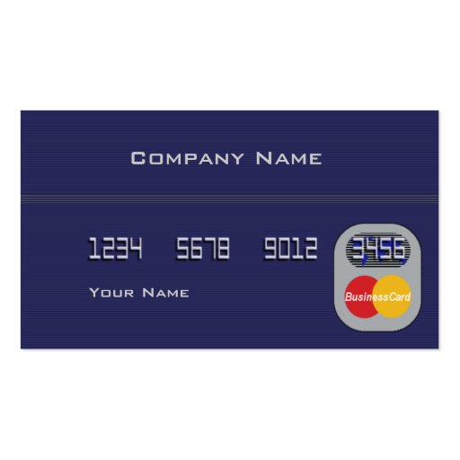 Credit Card Double Sided Standard Business Cards Pack