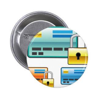 Credit Card Lock debit ATM card Pinback Button