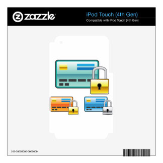 Credit Card Lock debit ATM card Skins For iPod Touch 4G