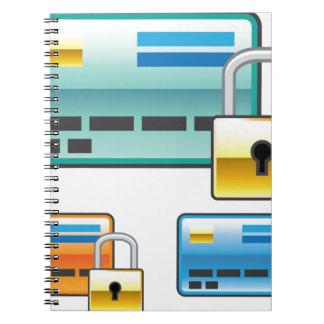 Credit Card Lock debit ATM card Spiral Notebook