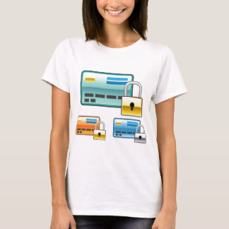 Credit Card Lock debit ATM card T-Shirt