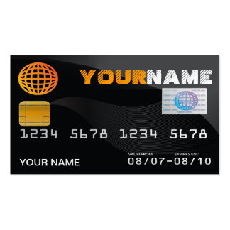 credit card look business card