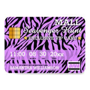 Mall Scavenger Hunt Invitations Announcements Zazzle