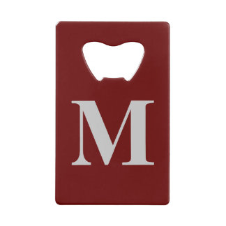 Credit Card Style Bottle Opener with Initial