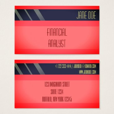 """Professional Business """"Credit Card Style Business Card No.16"""""""
