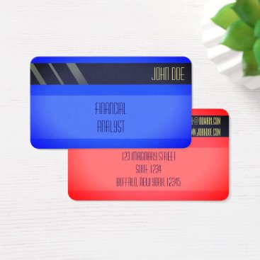 """Professional Business """"Credit Card Style Business Card No.17"""""""
