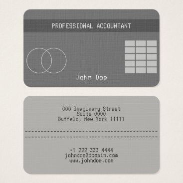 """Professional Business """"Credit Card Style Business Card No.19"""""""