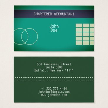 "Professional Business ""Credit Card Style Business Card No.20"""