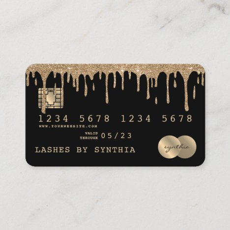 Credit Card Styled Dripping Gold