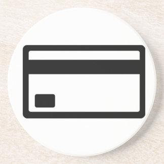 Credit Card Symbol Sandstone Coaster