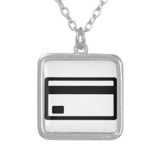Credit Card Symbol Square Pendant Necklace