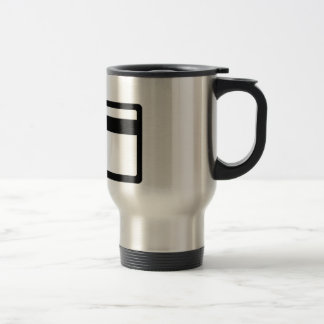 Credit Card Symbol Travel Mug