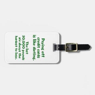 Credit Cards... Bag Tag