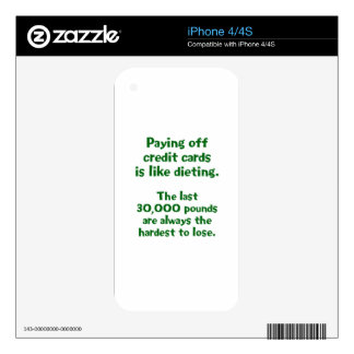Credit Cards... Decal For The iPhone 4
