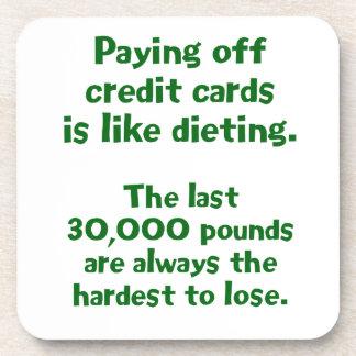 Credit Cards... Drink Coaster