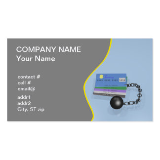 Credit counselor Double-Sided standard business cards (Pack of 100)