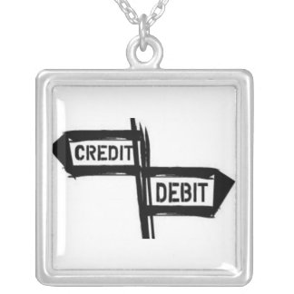 Credit or debit Square sterling silver necklace