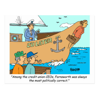 CREDIT UNION / FINANCIAL / BANKING investing gifts Postcard