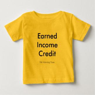 Crédito de los ingresos obtenidos camisas