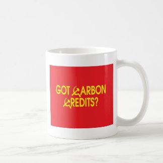 ¿Créditos conseguidos del carbono? Taza