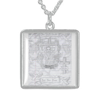 Credle Sterling Silver Square Necklace