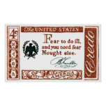 Credo 1960 del americano de Benjamin Franklin Impresiones