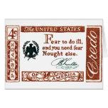 Credo 1960 del americano de Benjamin Franklin Felicitacion