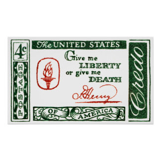 Credo 1961 del americano de Patrick Henry Póster
