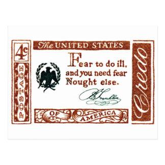 Credo 1961 del americano de Patrick Henry Postal