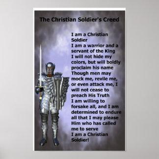 Credo cristiano de los soldados póster